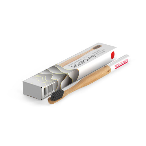 Bamboo toothbrush Revidont (red)
